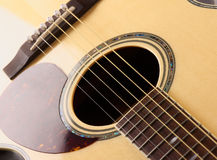 Acoustic Guitar macro Royalty Free Stock Photography