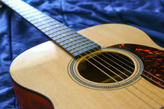 Acoustic Guitar Macro Stock Image
