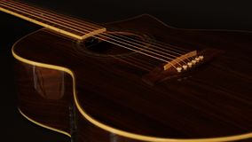 Acoustic guitar made of real wood royalty free stock photography