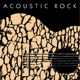 Acoustic guitar made of stones Stock Photography