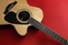 Acoustic guitar Royalty Free Stock Photo