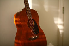 Acoustic Guitar Morning Light Stock Images