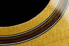 Acoustic guitar music case close inlay creativity art sound vibration play music guitarist musician fingerstyle jazz curves Stock Photos