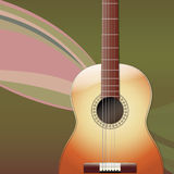 Acoustic Guitar musical Background. Square Background with Classic Acoustic Guitar Royalty Free Stock Photo