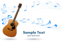 Acoustic Guitar Musical Background Stock Image