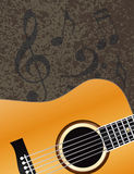 Acoustic Guitar with Musical Notes Background Illu Royalty Free Stock Image
