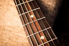 Acoustic guitar neck abstract royalty free stock photography