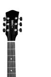 Acoustic guitar neck in black and white Royalty Free Stock Image