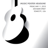 An acoustic guitar opens Royalty Free Stock Images
