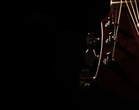 Acoustic Guitar Over Black Background Stock Image