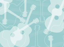 Acoustic guitar pattern. Seamless pattern with acoustic guitar silhouettes abstract vector. Guitar abstract background vector illustration