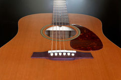 Acoustic Guitar Perspective Royalty Free Stock Images