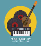 acoustic guitar and piano  isolated icon design Royalty Free Stock Photo