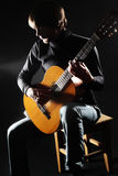 Acoustic guitar player on the concert Stock Photography