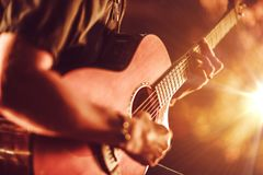 Free Acoustic Guitar Playing Stock Images - 48909994