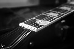 Acoustic guitar with plectrum Stock Photo