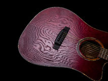 Acoustic  Guitar, Red body Royalty Free Stock Image