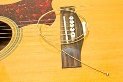 Acoustic guitar repair Royalty Free Stock Image