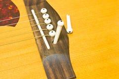 Acoustic guitar repair Royalty Free Stock Images