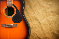 Acoustic guitar resting against. Stock Photography
