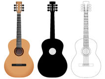 Acoustic guitar set Royalty Free Stock Images