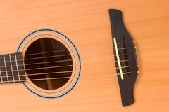 Acoustic Guitar Sound Hole. & Bridge Stock Images