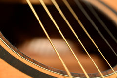 Acoustic guitar sound hole Stock Photography