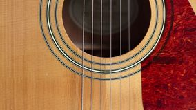 Acoustic Guitar Sound Hole and Pick stock video footage