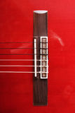 Acoustic guitar. String plate of Acoustic guitar Royalty Free Stock Photo