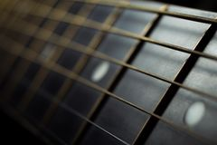 Acoustic guitar Strings background
