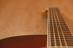 Acoustic Guitar in Sunburst Stock Photography