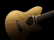 Acoustic Guitar, Talman TCM50. Straight on view of acoustic guitar Stock Photography