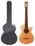 Acoustic guitar vector illustration Royalty Free Stock Photos