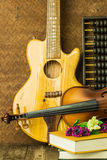 Acoustic guitar and violin Royalty Free Stock Photography