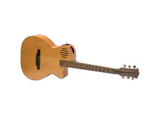 Acoustic guitar. On white background Royalty Free Stock Image