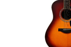 Acoustic Guitar on White Background Royalty Free Stock Photos