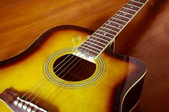Acoustic guitar . Royalty Free Stock Image