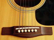 Acoustic guitar. Zoom in timber acoustic guitar Stock Photo