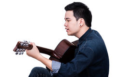 Acoustic guitarist Royalty Free Stock Photography