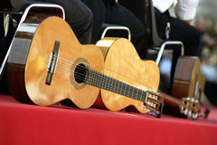 Acoustic guitars. Are resting before the show Stock Photos