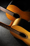 Acoustic guitars. Detail of two acoustic guitars - still life Royalty Free Stock Images