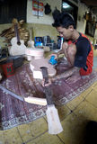 Acoustic guitars. Craftsmen create acoustic guitars in Solo, Central Java, Indonesia Stock Photography