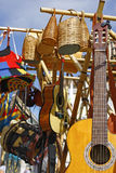 Acoustic Guitars, drums and basketry Stock Photos