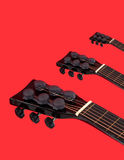 Acoustic guitars heads necks Stock Photography
