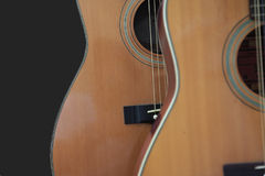 Acoustic Guitars. Two Acoustic Guitars  background Stock Photography