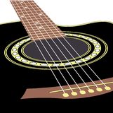 Acoustic guitars. Vector background with acoustic guitar Royalty Free Stock Photo