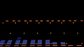 Acoustic image equalizer spectrum analyzer. EQ. This is a display of the music center. Classical music plays stock video footage