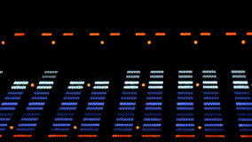 Acoustic image equalizer spectrum analyzer. EQ. stock footage
