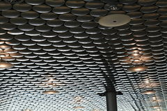 Acoustic insulation on ceiling Stock Image