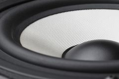 Acoustic loudspeaker macro. Pictures close up royalty free stock photos